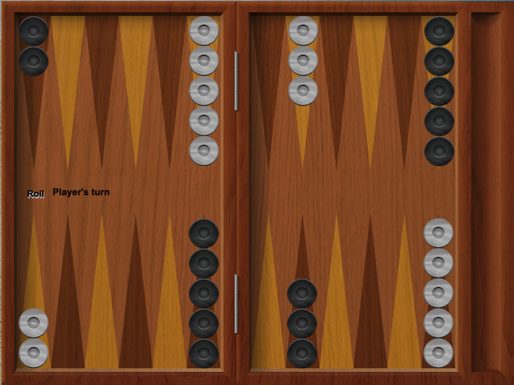 iTavli: Backgammon left configuration