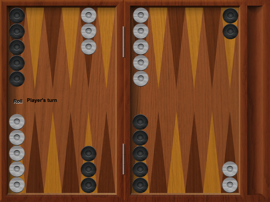 iTavli: Backgammon right configuration