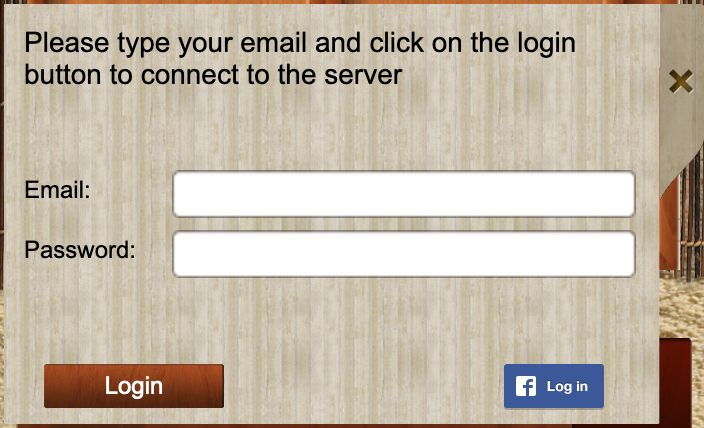 iTavli Login screen