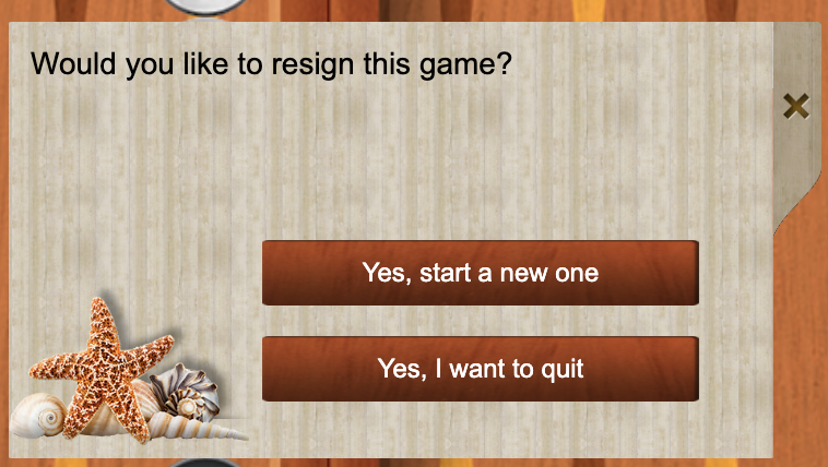 iTavli: Resign a game