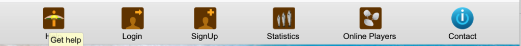 iTavli: Statistics button
